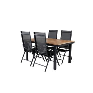 Homeroom Pila spisebord og 4 stk 5-trinns Bliss spisestoler