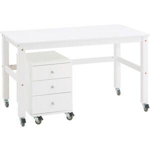 HoppeKids Skrivebord med hjul, Joans, Hvit One Size