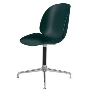 GUBI - Beetle Spisebordsstol - Grønn/Svivel Alu