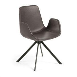 LaForma - Yasmin Spisebordsstol - Mørkebrun kunstskinn