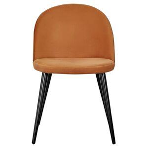 Velvet Spisebordstol, Orange