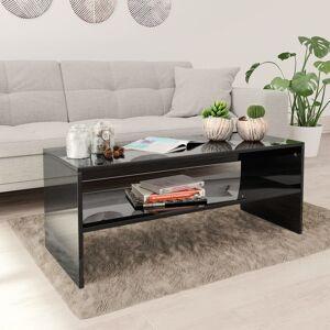 vidaXL Salongbord høyglans svart 100x40x40 cm sponplate