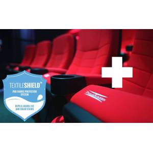 DreamScreen CINESEAT THEATRE MED TEXTILESHIELD RED FABRIC ADDON SEAT