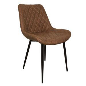 Nimara.se Marla matstol brun konsläder med svarta ben