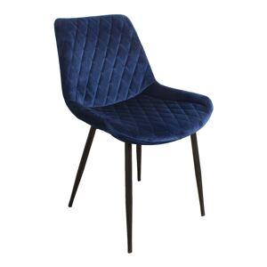 Nimara.se Grace sammet stol i Blå med svarta ben
