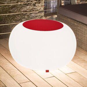 Moree Bubble Outdoor bord, vitt ljus + röd filt