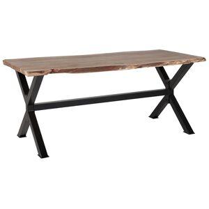 Beliani Matbord 200 x 95 cm trä/svart VALBO