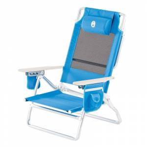 Coleman Low Recliner Chair Beach Blå