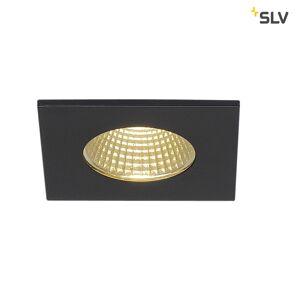 SLV LED Indbygningslampe PATTA-I, firkantet, 12W, COB LED, 38°, 3000K, IP65, inkl. n