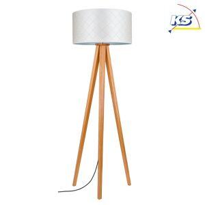 Standerlampe træ KS-SL-HSL5, Ø 50cm, højde 164cm, E27 maks. 60W, Olieret eg / sk