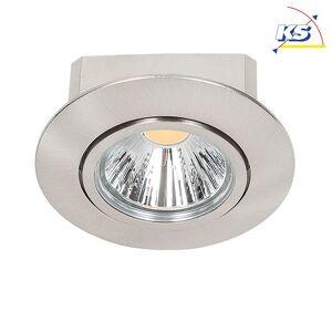 LED Indbygningslampe KS-N-DEL6, rund, Ø 8.8cm, CRi 90, drejelig 20°, dæmpbar, 8W