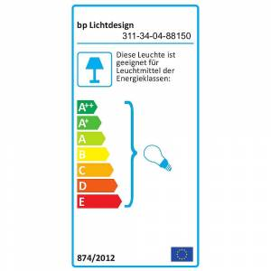 Loftlampe KS-BU-DAL1, Ø 70cm, højde 23cm, 4x E27 maks. 15W, Skærm mudder / hvid