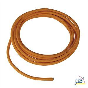SLV PVC Kabel med Stofcover, 3-polet, 10m, orangefarvet