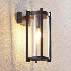 Lucande Brienne udendørs væglampe med glasskærm