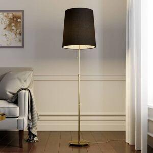 Lucande Pordis standerlampe, 155 cm, messing-guld