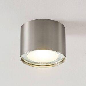 Lampenwelt.com LED-downlight Meera, rund, satineret nikkel