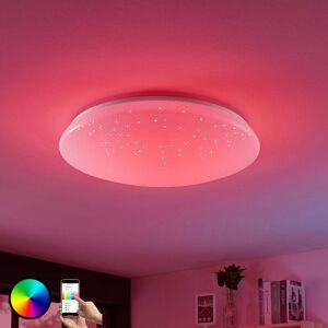 Lucande LED-loftlampe Jelka, WiZ, RGB-farveskift, rund