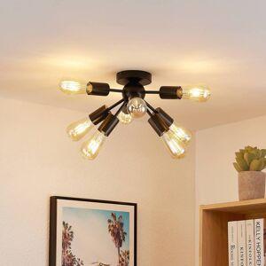 Lindby Rayos loftlampe, mat sort