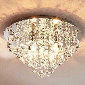 Lindby Funklende loftlampe Annica med kromplade