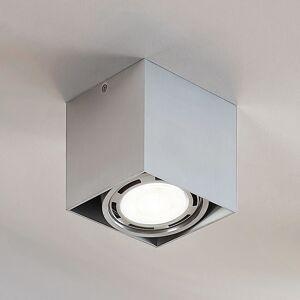 Lampenwelt.com Rosalie LED-downlight, 1 lyskilde kantet alu