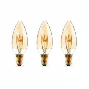 Nedis, Dæmpbar LED-vintageglødepære E14, Stearinlys, 3 W, 100 lm