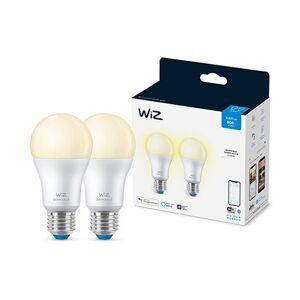 WiZ Wi-Fi 2x A60 bulb E27 Soft White Smart Home