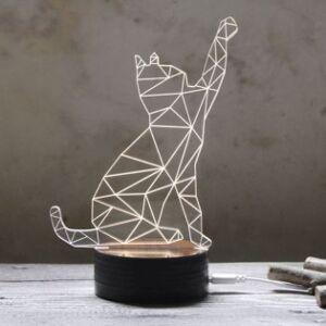 e-ville.com 3D Kissa tunnelmavalaisin - 1