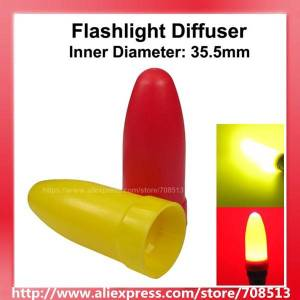 Beam KBLD-A39 Beam Light Flashlight Diffuser for LED Flashlights - Red and Yellow (Inner Dia. 35.5mm) ( 1 set )