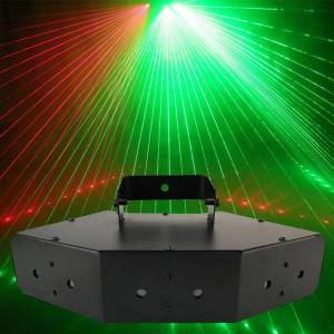 Beam YSH 6 Beam Laser Stage Light DMX Scan lighting red blue green light fit for DJ Bar home party wedding disco KTV great effect