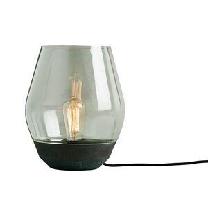 NEW WORKS Bowl Bordlampe rustet kobber m. Lysegrønn Glasskjerm