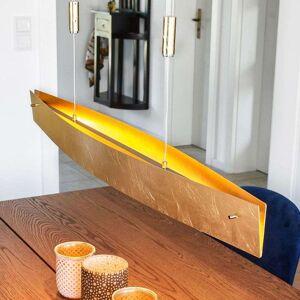 Lampenwelt.com Gullfarget LED-hengelampe Malu 100 cm