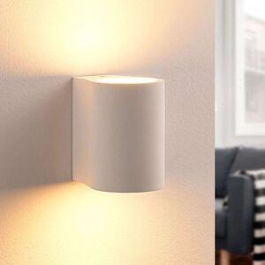 Lindby Jannes - firkantet LED-vegglampe i gips