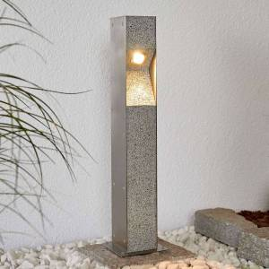 Lampenwelt.com LED-pullertlampe Amelia, granitt, V4A, 60 cm