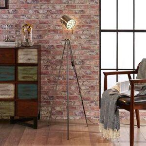 Lampenwelt.com Gulvlampe Ebbi i industriell stil, med tre bein