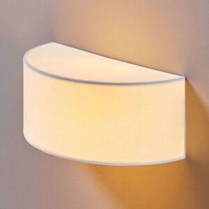 Lindby Halvrund stoffvegglampe Katrin for vakkert lys