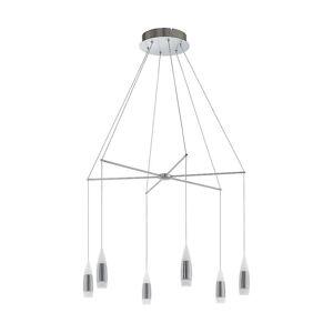 Eglo LED taket anheng 6 lys nikkel Matt/lø Santiga