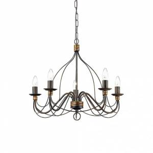 Ideal Lux Corte 5 Bulb Pendant Light Ruggine