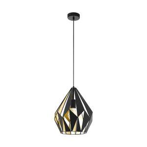 Eglo Carlton Geometric Black And Gold Rustic Pendant Lamp