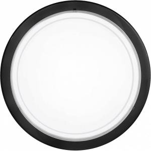Eglo Planet 290mm Black & Glass Ceiling Or Wall Disk Light