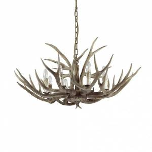 Ideal Lux Ideell Lux Chalet 8 lys Horn / gevir lysekrone