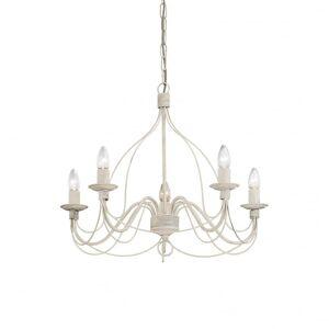 Ideal Lux Corte 5 Bulb Pendant Light White Antico