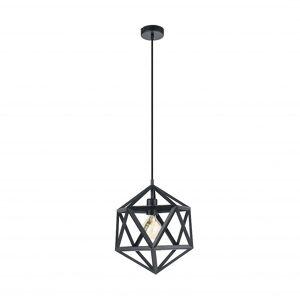 Eglo Embleton Geometry Black Pendant Cage Lamp