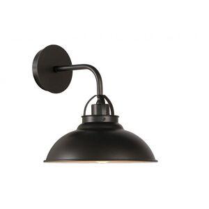 Lucide Hamois Industrial runde metall grå jern veggen lys