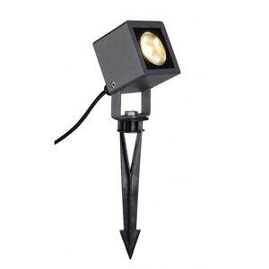 SLV Nautilus Square LED Spotlight, Square, Antrasitt, 6.7Wcob LED, 3000K