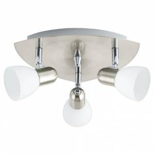 Eglo Enea 3 Light Wall/ceiling Spotlight Nickel Matt Finish With