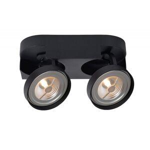 Lucide Versum Ar111 Modern Square Aluminum Black Ceiling Spot Light
