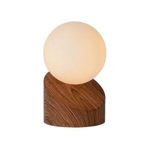Lucide Len moderne metall tre og Opal bordlampe
