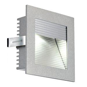 SLV ramme kurve ledet innfelt lys, firkantet, sølv-grå, Whiteled