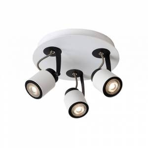 Lucide Dica LED Modern Round Metal White And Black Ceiling Spot Light