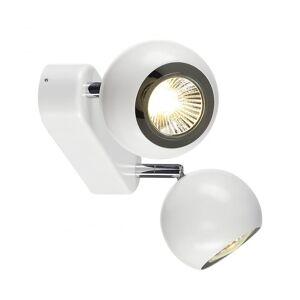 SLV øye 2 Gu10 veggen Andceiling lys, hvit/krom, Gu10, maks. 2X50W